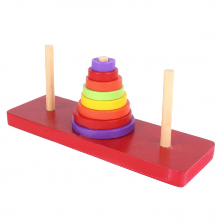 Turn cu discuri colorate din lemn si 3 coloane [1]
