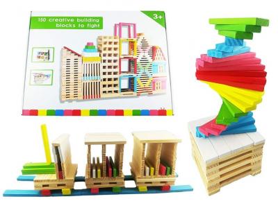 Set Creativ de Constructie din Lemn - 150 piese0