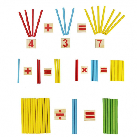 Joc din lemn Invatam operatiile matematice5