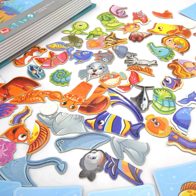 Carte magnetica Animale marine Puzzle Magnetic  Book Sea Creatures Spell2