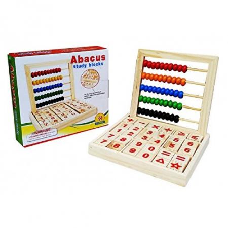 Numaratoare din lemn Montessori cu cifre litere si operatii matematice [2]