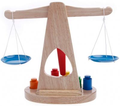 Balanta din lemn Montessori -jucarie educativa .1