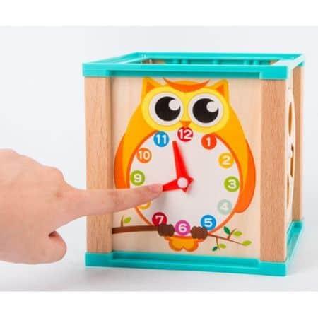 Cub Montessori din lemn cu 6 activitati [2]