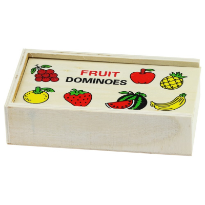 Joc domino din lemn invata fructele-legumele [2]