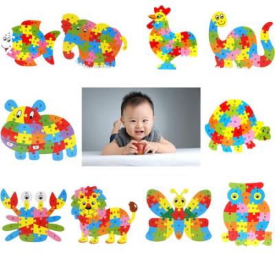 Fluture puzzle din lemn invata alfabetul si numerele2