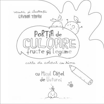 PORTIA DE CULOARE: FRUCTE SI LEGUME - CARTE DE COLORAT CU RIME3