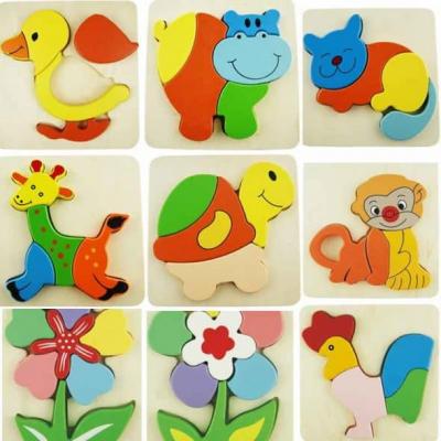 Hipopotam-Puzzle incastru din lemn Montessori [1]