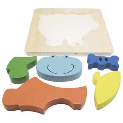 Hipopotam-Puzzle incastru din lemn Montessori [3]