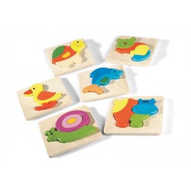 Hipopotam-Puzzle incastru din lemn Montessori [4]