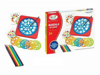 Set creativ 6 mandale din plastic cu   carioci si accesorii [0]