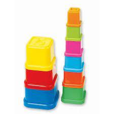 Turn de stivuit multicolor -9 cupe cu numere de la 0 la 9 [0]
