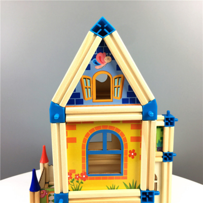 Set de constructie din lemn  Micul Arhitect -Arhitectura pentru copii4
