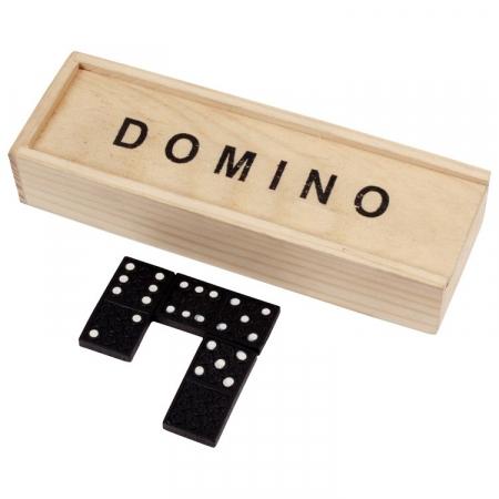 Joc de societate  Domino cu 28 de piese si cutie din lemn1