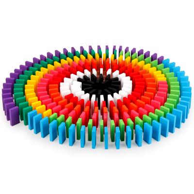 Joc Domino din lemn cu 360 de piese colorate [0]