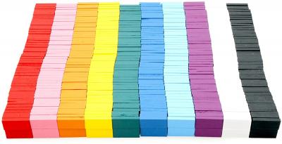 Joc Domino din lemn cu 360 de piese colorate [4]