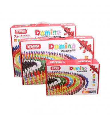 Joc Domino din lemn cu 360 de piese colorate [6]