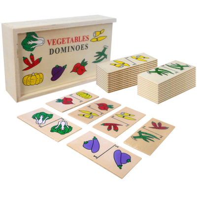 Joc domino din lemn invata fructele-legumele [5]