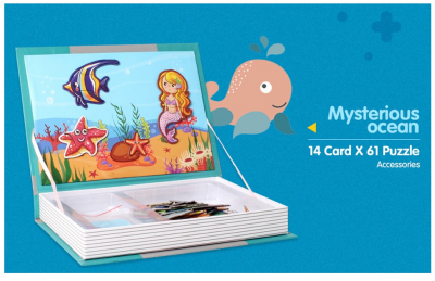Carte magnetica Animale marine Puzzle Magnetic  Book Sea Creatures Spell4