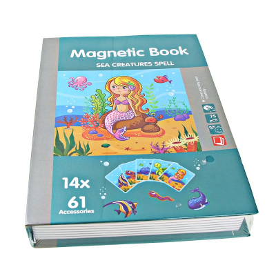 Carte magnetica Animale marine Puzzle Magnetic  Book Sea Creatures Spell1