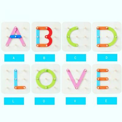 Placa Geoboard Din Lemn Montessori Joc Educativ De Imaginatie .4