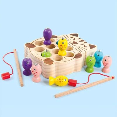 Pisicuta Joc Montessori de Pescuit din Lemn1