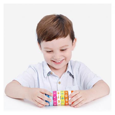 Cilindru din lemn pentru invatarea calculelor matematice -Joc Rubic de socotit [0]