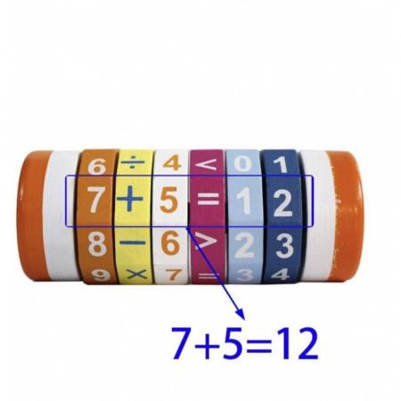 Cilindru din lemn pentru invatarea calculelor matematice -Joc Rubic de socotit [2]