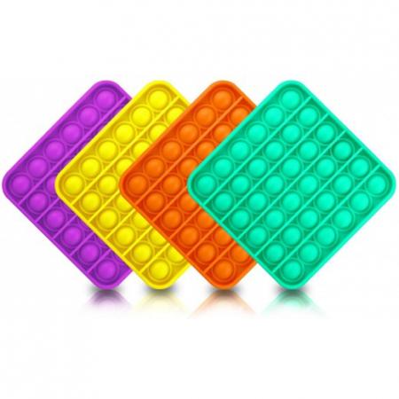 Set 2 POP IT NOW patrat  -Jucarie senzoriala anti stress copii&adulti0