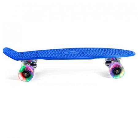 "Penny-Board 22""/55 cm cu leduri luminoase in roti - Albastru [1]"