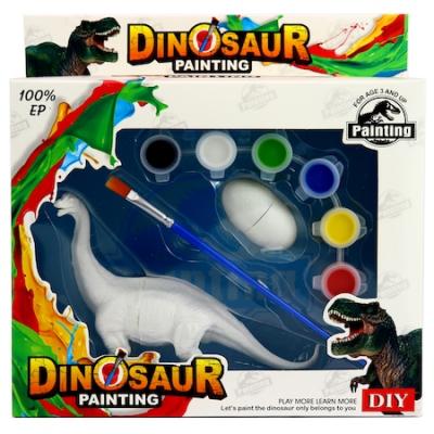 Kit Complet desen -Picteaza dinozaurul cu figurine acuarele si pensula0