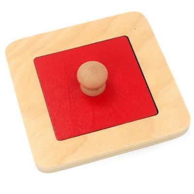 Set 4 puzzle uri din lemn Montessori cu maner si forme geometrice .1