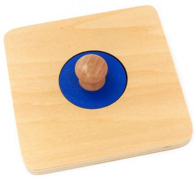 Set 4 puzzle uri din lemn Montessori cu maner si forme geometrice .3