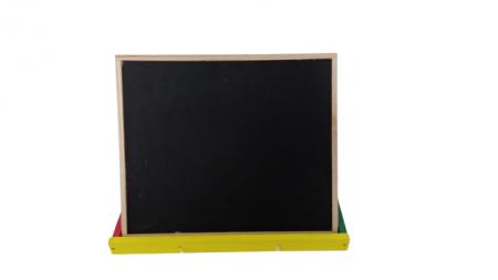 Tabla de scris Montessori pliabila cu 2 fete in cutie de lemn 40X38 [1]