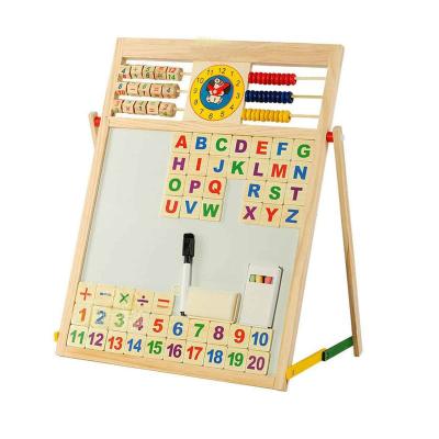 Tabla magnetica din lemn cu 2 fete pentru scris cu creta si desenat cu carioca3