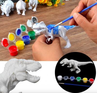 Set de Pictat culori acrilice- Coloreaza Dinozaurul0