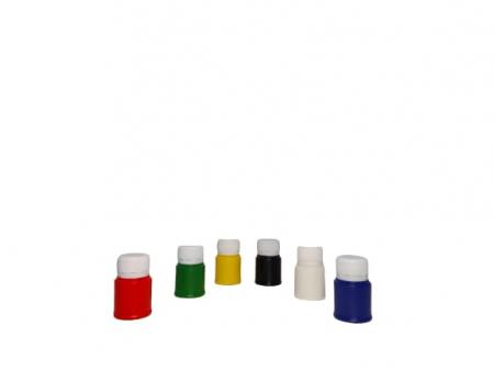 Acuarele guase 6 recipiente de 30 ml romanesti - Cretorom1