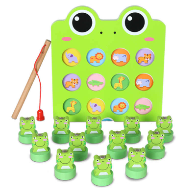 Joc de pescuit  broscuta pentru dezvoltarea inteligentei-Fishing frog memory game0