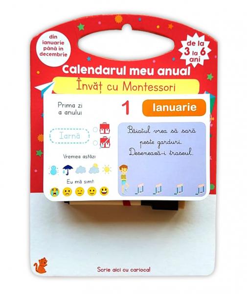 Invat cu Montessori - Calendarul meu anual 0