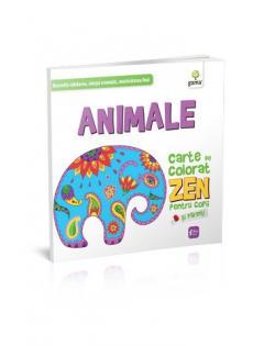 Animale. Carte de colorat ZEN 0