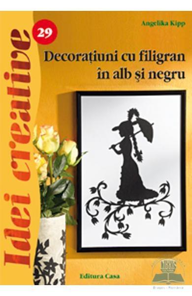 Decoratiuni cu filigran in alb si negru - Idei Creative Nr. 29 0