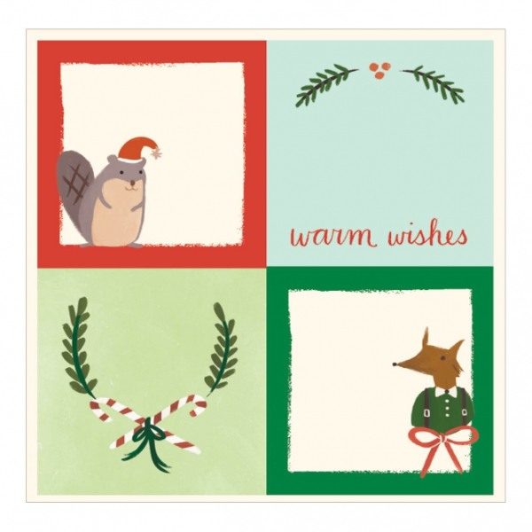 Holiday Forest Friends Label 1