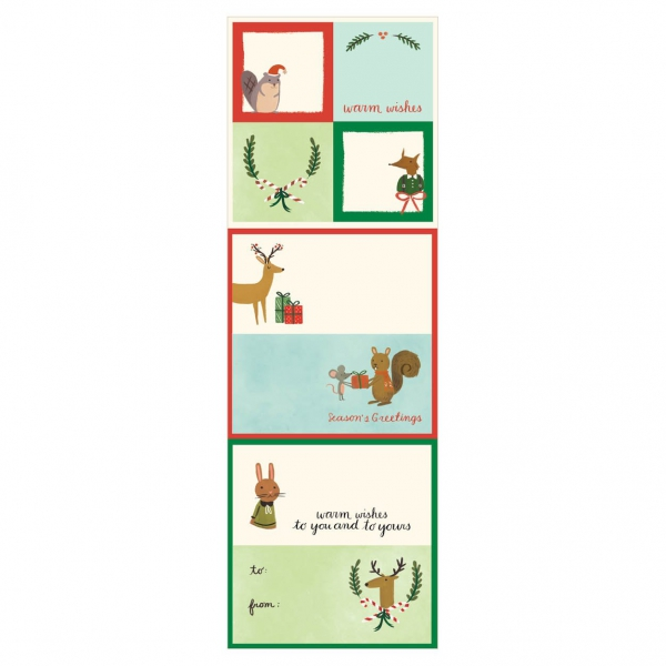 Holiday Forest Friends Label 2