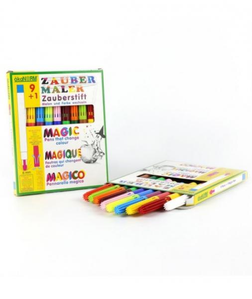 9+1 Markere (Carioci) Magice ECO ÖkoNORM - 9 Culori + 1 Marker De Schimbare A Culorilor 0
