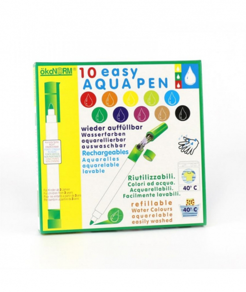 10 Carioci ECO ÖkoNORM Easy Aqua Ce Se Pot Spăla Ușor, Reîncărcabile, Pentru Copii Mici 0