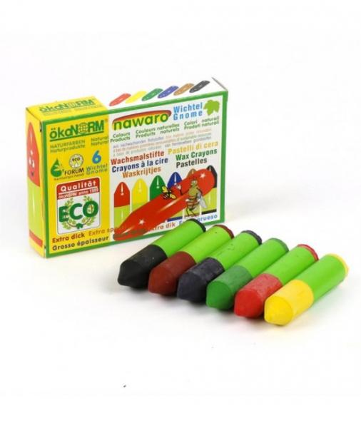 6 Mini-Creioane Cerate Naturale ÖkoNORM Nawaro Gnome (Pitice) 0