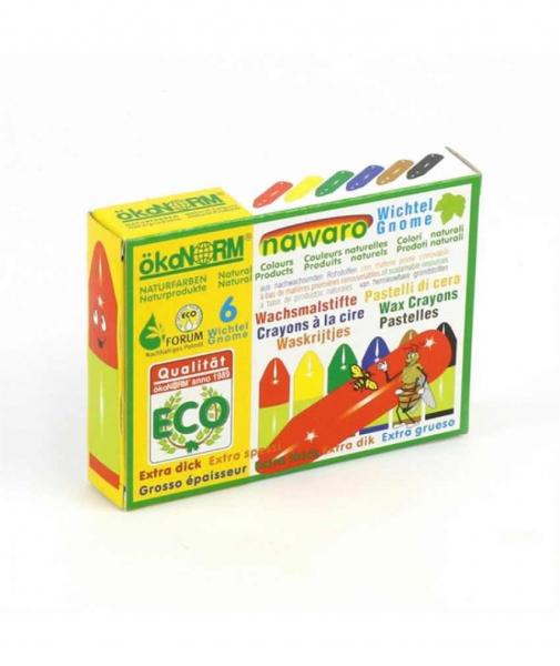 6 Mini-Creioane Cerate Naturale ÖkoNORM Nawaro Gnome (Pitice) 1
