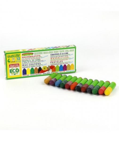 12 Mini-Creioane Cerate Naturale ÖkoNORM Nawaro Gnome (Pitice) 1