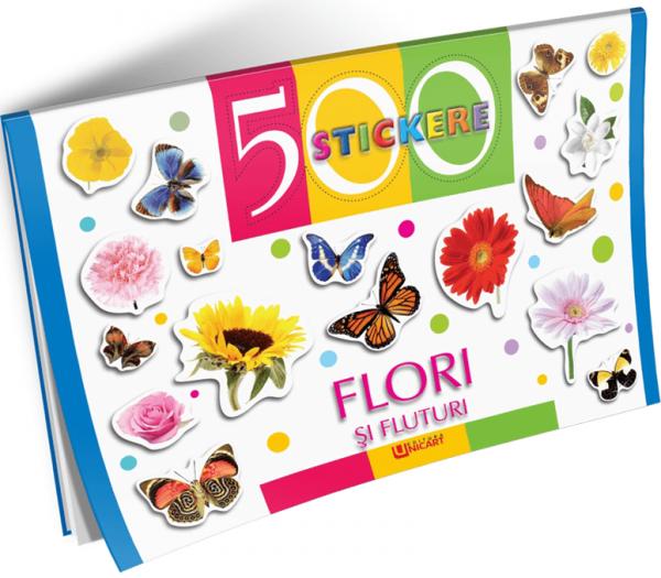 500 stickere - Flori si fluturi [0]