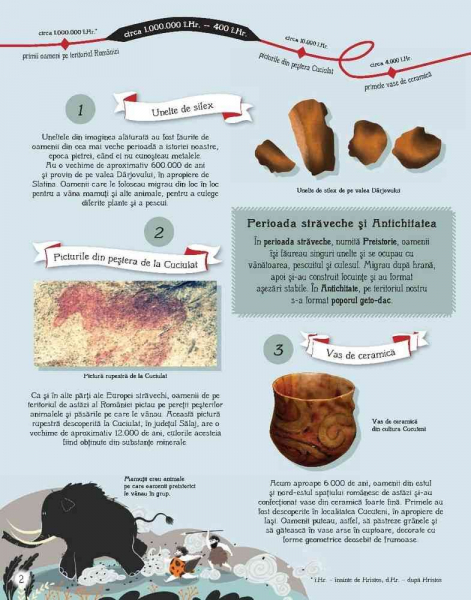 Istoria Romaniei pentru copii in 100 de imagini 2