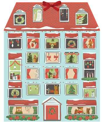 Forest Friends Christmas House Advent Calendar 0